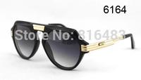 New popular  Brand Cazal 634 Fashion Designer women men Sunglasses Vintage eyewear  vogue glasses Best quality 4cols