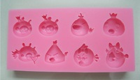 New Arrival Cute  Bird shape Silicone Mold Cake Decoration Fondant Cake 3D Food Grade soap chocolate Moulds- C357
