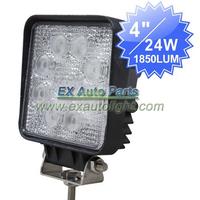 4PCS 24W LED Work Light Spot Beam For SUV/Off-road/4WD/ATV/Truck/Boat LED Daytime DRL Lamp Fog Light 12V 24V