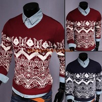 New hot man sweater essential fashion sportsman Hot two color into men's V-neck casual sweater free shipping