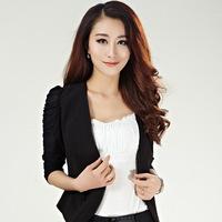 New 2014 Spring Autumn Women Blazer Fashion Slim Short Jacket Women Single Button V-Neck OL Casual Suits Coat Clothing