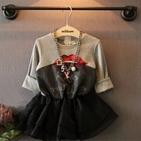 Top On Top wholesale 2014 new autumn spring kids 100% cotton dress for 2-7 years old
