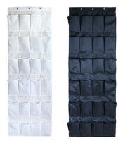 New 1pcs black white Shoes Organizer Holder Oxford Bag Intake Under Bed Closet 24 frames Storage Box Free shipping