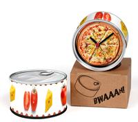 Pizza Designs Kitchen Fridge Magnets Wall Clocks Cheap Desk Table Function Clocks 2pcs a lot Free Shipping