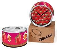 Strawberry Designs Kitchen Fridge Magnets Wall Clocks Cheap Desk Table Function Clocks 2pcs a lot Free Shipping