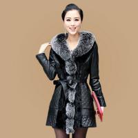 2014 winter women's fashion beautiful fight mink fur fox fur collar OL commuter