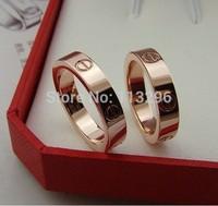 2014 LOVE rings Women 18K gold freshwater pearl Fashion titanium steel rose gold ring best friends Brand men rings for women