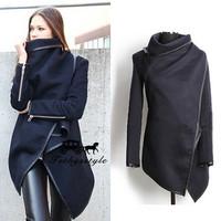 2014 New Fashion Winter Wool Cashmere Coat Women Casacos FemininosTrench Outercoat Jacket Clothing Desigual Coat Plus Size S XXL