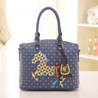 2014 European and American women leather handbags vintage fashion Messenger bag leisure bags zebp025 free shipping