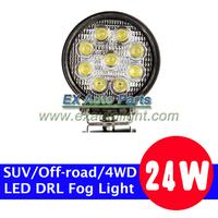 1PCS x 24W Flood Beam Round LED Work Lamp Project Vehicles/ATV/SUV/Off-road/4WD Driving DRL Fog Light  Headlight Headlamp