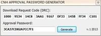 CNH APPROVAL PASSWORD GENERATOR(unlocked)