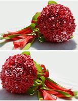 Supernova Sale!Free shipping,19cm diameter rose flowers Bridal Hand Flower/Wedding Throw Bouquet