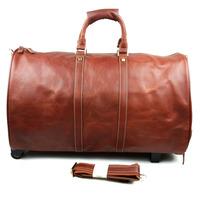 New Vintage Retro Oil Wax Leather Genuine Leather Cowhide Men Travel Duffle Handbag Shoulder Bag Messenger Bag Bags For Men 8625