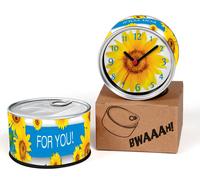 Sunflower Designs Kitchen Fridge Magnets Wall Clocks Cheap Desk Table Function Clocks 2pcs a lot Free Shipping