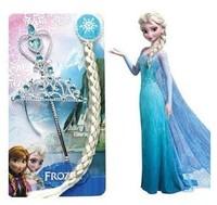 2014 New Frozen Elsa Anna Crown Set&Magic Wand&Braid Hair accessories Girls Headwear