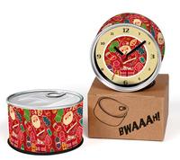 Christmas Santa Claus Gift Designs Kitchen Fridge Magnets Wall Clocks Cheap Desk Table Function Clocks 2pcs a lot Free Shipping