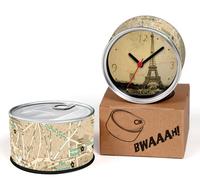 France Pairs City Map Designs Kitchen Fridge Magnets Wall Clocks Cheap Desk Table Function Clocks 2pcs a lot Free Shipping