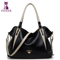 FOXER women messenger bags new 2014 shoulder bag women famous brands genuine leather handbag vintage totes fashion wristlets bag