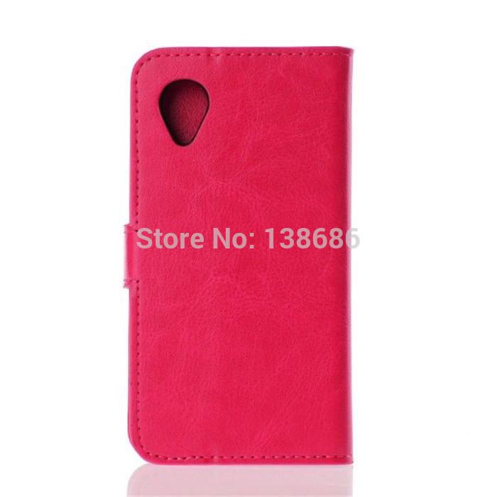 1pcs / lote Free & Drop Shipping carteira de couro PU caso capa da aleta do vintage para LG Google Nexus 5 D820 E980 com suporte + titular do cartão(China (Mainland))