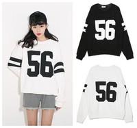 Digital print 56 loose long sleeve sports t-shirt punk printed cardigans casual cardigan women coat desigual sweatshirt sweater
