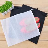 (Min order is $10) Non-woven shoes travel storage bag drawstring tote shoe single e184