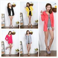 Summer slim women's thin outerwear sun protection shirt medium cardigan cape long-sleeve air conditioning shirt