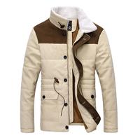 Down & Parkas 2014 men apparel fashion cotton-padded mens casual jacket outwear free shipping M-XXL