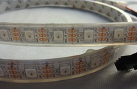 1m DC5V WS2812B led pixel srip,IP68,60pcs WS2812B/M with 60pixels;WHITE PCB,IP68;epoxy resin filled in the tube