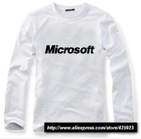 IT Men Series Microsoft simple long-sleeved T shirt domineering full-sleeved T-shirt
