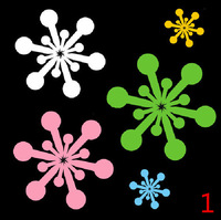 Free Shipping 4PCS Different Style Car Stickers, Multicolor Snow Car Decal ,Reflective Waterproof On Rear Windshield Door