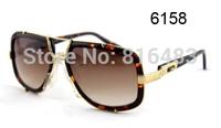 New popular   Best quality Brand Cazal 656 Fashion Designer women men Sunglasses Vintage eyewear  glasses 6cols free shipping