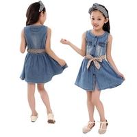 One-piece dress Children Cotton Girl Long sleeve Young Cheap  Princess Grid Party Elsa dayhz023