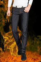 Brand Warm Jeans men for Winter &Autumn,Thickness Velvet Jeans for Men,Long Straight Warm Denim, Winter Pants Thicken Trousers