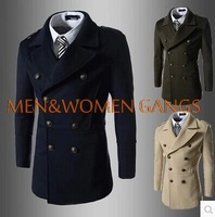 Wholesale new arrival new winter men's fashion double-breasted coat trench M-XXL