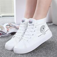 2014 autumn breathable platform white high canvas shoes female shoes casual shoes