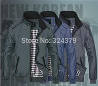 2014 New Spring and Autumn / Men's sports jacket / coat men / Slim Jacket / 3 color / size XL-5XL 311