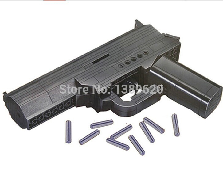Building Blocks Plastic Assembled Gun/Pistol Model Educational Toys for boys Cosplay Props Firearms(China (Mainland))