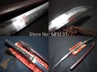 Clay tempered sanmai blade japanese katana dragon tsuba geometrical kissaki very sharp sword