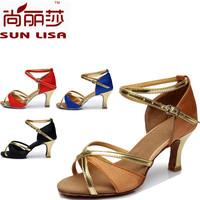 Fashion Color Block Free Shipping Gorgeous Women's Ladies Latin Tango Ballroom Salsa Heeled Dance Shoes WZSP805 7cm Heel High