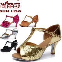 New Fashion Free Shipping Gorgeous Women's Ladies Latin Tango Ballroom Salsa Heeled Dance Shoes WZSP808 5cm Heel High