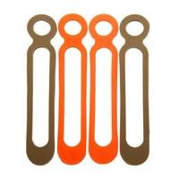10Pcs/lot Silicone EDC Tool Multipurpose Ties Leggings Puttee Rope