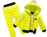 HOT 2014 best sale boys/girls winter clothing suit set baby child Sports warm down jacket+pants sets children suits
