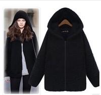 2014 New Autumn Winter UK Big Plus Size 6XL Women Casual Long Sleeve Warm Hoodie Down Warm Outerwear Cardigan Jacket Coat