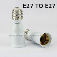 E27 to E27 Extension Socket Base CLF LED Light Bulb Lamp Adapter Converter