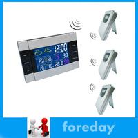 Original 3 TO 1 Weather Station Alarm Clock Wireless RF Temperature 1 Receiver +3 Sensors HongKong Post or Singapore Post NEW