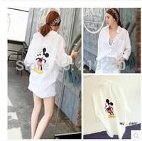 2014 fall new Korean Institute of wind ladies long sleeve Mickey printing