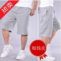 Summer plus size male sports shorts male trousers belts loose casual 5 knee-length shorts male beach shorts