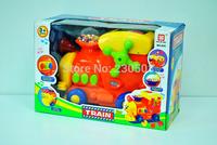 Carton train musical educational toys toy bricks Educational toys