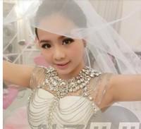 The bride luxury suite wedding dresses, wedding jewelry diamond domineering epaulets crystal diamond shoulder chain