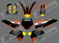0536 NEW STYLE bull (Orange & Black)TEAM GRAPHICS & BACKGROUNDS DECALS STICKERS Kits for KTM SX65 2009-2012